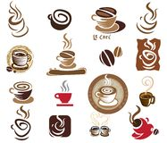 Coffee and Tea design elements Stock Image