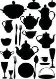 Coffee and tea dishware Royalty Free Stock Photography