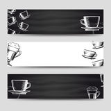 Coffee and tea horizontal banners Stock Images