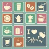 Coffee and tea icon Royalty Free Stock Photo