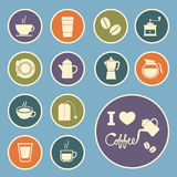 Coffee and tea icon Royalty Free Stock Images