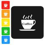 Coffee and tea,icon,sign,3D illustration. Coffee and tea sign,best 3D illustration Royalty Free Stock Images