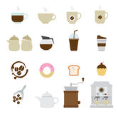 Coffee and tea Icons Stock Photography