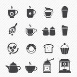 Coffee and tea Icons Royalty Free Stock Photos