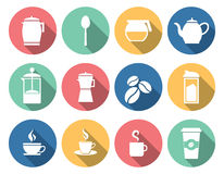Coffee and tea icons Stock Photos