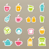Coffee and tea icons  Royalty Free Stock Images