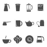 Coffee tea icons Royalty Free Stock Photos