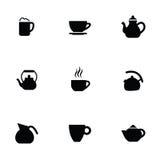 Coffee tea 9 icons set Royalty Free Stock Photos