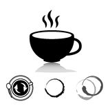 Coffee and tea icons set Royalty Free Stock Image