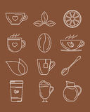 Coffee and tea icons. vector illustration. Royalty Free Stock Image