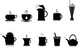 Coffee and tea illustrations Stock Photos