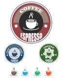 Coffee and tea logo Royalty Free Stock Image
