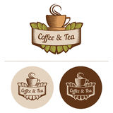 Coffee And Tea Logo Template Royalty Free Stock Images
