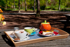 Coffee and tea outdoor Royalty Free Stock Photos