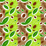 Coffee and tea pattern. Coffee and tea seamless pattern. Vector illustration Stock Illustration