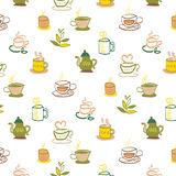 Coffee and tea pattern Royalty Free Stock Photo