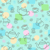 Coffee and Tea Seamless Repeat Pattern Vector. Conversational Coffee and Tea Seamless Repeat Pattern Vector Illustration eps Royalty Free Stock Photography