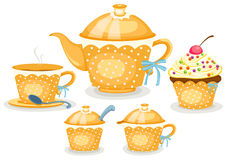 Coffee or tea set Stock Image