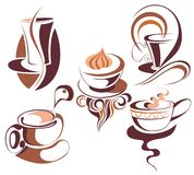Coffee,tea set Royalty Free Stock Photos