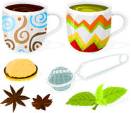 Coffee and tea set Royalty Free Stock Photography