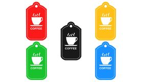 Coffee and tea,icon,sign,3D illustration. Coffee and tea sign,best 3D illustration Stock Photography