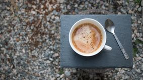 Coffee and Tea-Spoon on a plate Stock Photography
