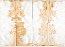 Coffee and tea stained textured old paper royalty free stock photo