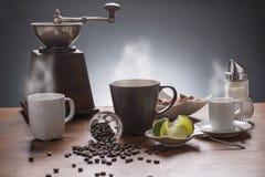 Coffee and tea still life Royalty Free Stock Photos