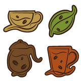 Coffee and tea symbols Royalty Free Stock Images