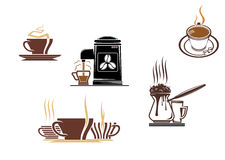 Coffee and tea symbols Stock Photos
