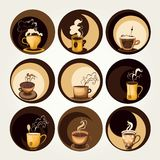 Coffee and tea symbols. And icons for food design vector illustration