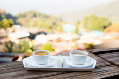 Coffee and tea in Thailand Royalty Free Stock Photography
