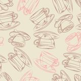 Coffee or tea time, seamless background for your Stock Photos