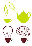 Coffee and tea, vector set Royalty Free Stock Image