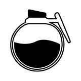 Coffee teapot drink isolated icon Royalty Free Stock Images