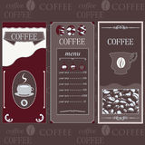 Coffee templates brown colore Royalty Free Stock Photos