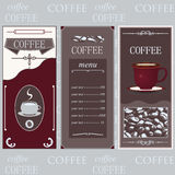 Coffee templates white Royalty Free Stock Image
