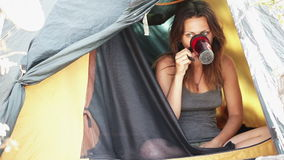 Coffee in a tent Stock Images