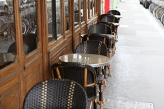 Coffee terrace with tables and chairs,Paris Fra Stock Photography