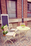 Coffee terrace with tables and chairs Stock Photo