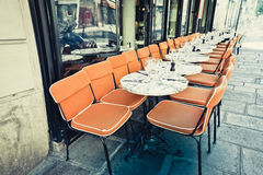 Coffee terrace with tables and chairs Royalty Free Stock Photos