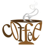 Coffee with text Royalty Free Stock Photo