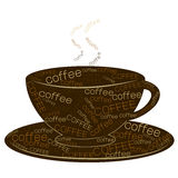 Coffee text art vector Stock Image