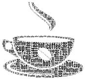 Coffee text graphic Royalty Free Stock Photos
