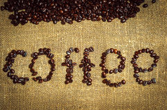 Coffee text Stock Photo