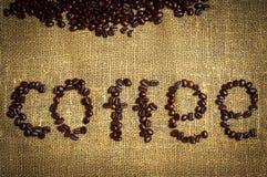 Coffee text Stock Photos