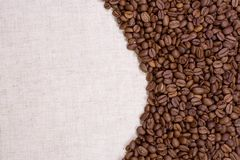 Coffee with textile material Stock Images
