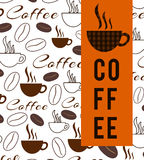 Coffee Texture And Stripe Royalty Free Stock Photos