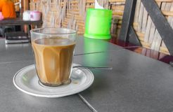 Coffee in thailand style classic on the table with copy space Stock Image