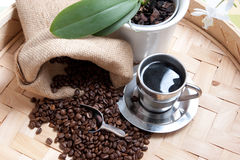 Coffee theme. High resolution image with coffee beans Stock Photo